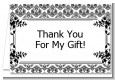 Damask - Birthday Party Thank You Cards thumbnail