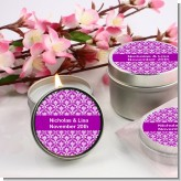 Damask Pattern - Bridal | Wedding Candle Favors