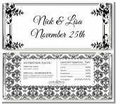 Damask - Personalized Anniversary Candy Bar Wrappers