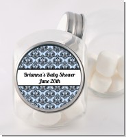 Damask - Personalized Baby Shower Candy Jar