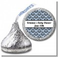 Damask - Hershey Kiss Baby Shower Sticker Labels thumbnail