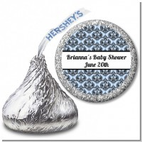 Damask - Hershey Kiss Baby Shower Sticker Labels