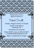 Damask - Baby Shower Invitations