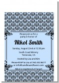 Damask - Baby Shower Petite Invitations