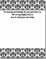 Damask - Baby Shower Notes of Advice