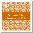 Damask Pattern - Personalized Bridal Shower Card Stock Favor Tags thumbnail