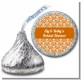 Damask Pattern - Hershey Kiss Bridal Shower Sticker Labels thumbnail