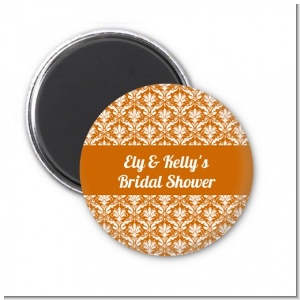Damask Pattern - Personalized Bridal Shower Magnet Favors