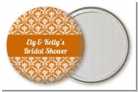 Damask Pattern - Personalized Bridal Shower Pocket Mirror Favors