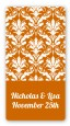 Damask Pattern - Custom Rectangle Bridal Shower Sticker/Labels thumbnail