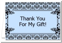 Damask - Baby Shower Thank You Cards