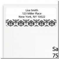 Damask - Baby Shower Return Address Labels