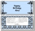 Damask - Personalized Birthday Party Candy Bar Wrappers thumbnail