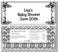 Damask - Personalized Baby Shower Candy Bar Wrappers thumbnail