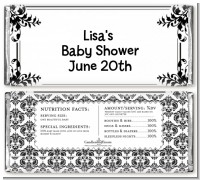Damask - Personalized Baby Shower Candy Bar Wrappers