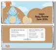 Dinosaur Baby Boy - Personalized Baby Shower Candy Bar Wrappers thumbnail