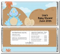 Dinosaur Baby Boy - Personalized Baby Shower Candy Bar Wrappers