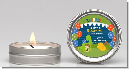 Dinosaur and Caveman - Birthday Party Candle Favors