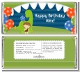 Dinosaur and Caveman - Personalized Birthday Party Candy Bar Wrappers thumbnail