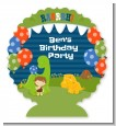 Dinosaur and Caveman - Personalized Birthday Party Centerpiece Stand thumbnail