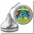 Dinosaur and Caveman - Hershey Kiss Birthday Party Sticker Labels thumbnail