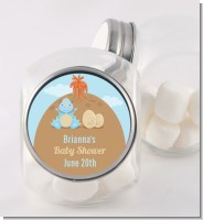Dinosaur Baby Boy - Personalized Baby Shower Candy Jar