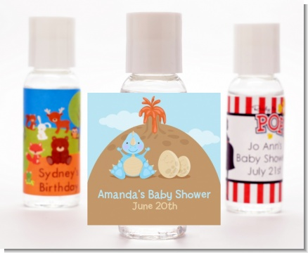 Dinosaur Baby Boy - Personalized Baby Shower Hand Sanitizers Favors
