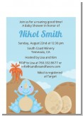 Dinosaur Baby Boy - Baby Shower Petite Invitations