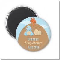 Dinosaur Baby Boy - Personalized Baby Shower Magnet Favors