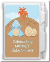 Dinosaur Baby Boy - Baby Shower Personalized Notebook Favor