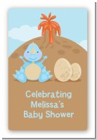 Dinosaur Baby Boy - Custom Large Rectangle Baby Shower Sticker/Labels