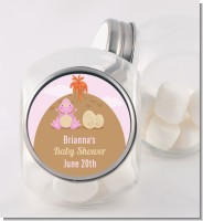 Dinosaur Baby Girl - Personalized Baby Shower Candy Jar