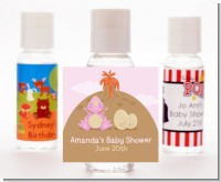 Dinosaur Baby Girl - Personalized Baby Shower Hand Sanitizers Favors