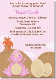 Dinosaur Baby Girl - Baby Shower Invitations
