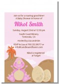 Dinosaur Baby Girl - Baby Shower Petite Invitations