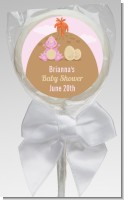 Dinosaur Baby Girl - Personalized Baby Shower Lollipop Favors