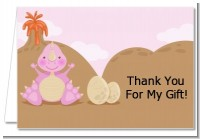 Dinosaur Baby Girl - Baby Shower Thank You Cards