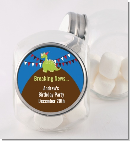 Dinosaur - Personalized Birthday Party Candy Jar