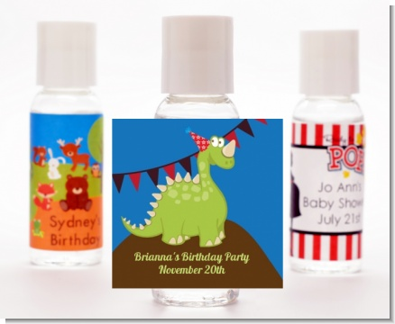 Dinosaur - Personalized Birthday Party Hand Sanitizers Favors