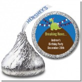 Dinosaur - Hershey Kiss Birthday Party Sticker Labels