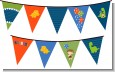 Dinosaur and Caveman - Birthday Party Themed Pennant Set thumbnail