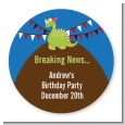 Dinosaur - Round Personalized Birthday Party Sticker Labels thumbnail