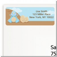 Dinosaur Baby Boy - Baby Shower Return Address Labels