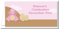 Dinosaur Baby Girl - Personalized Baby Shower Place Cards