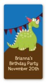 Dinosaur - Custom Rectangle Birthday Party Sticker/Labels