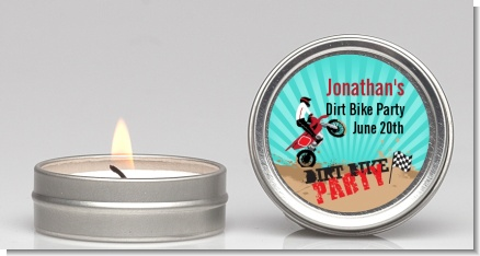 Dirt Bike - Birthday Party Candle Favors