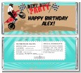 Dirt Bike - Personalized Birthday Party Candy Bar Wrappers thumbnail