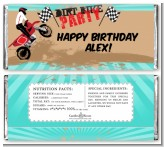 Dirt Bike - Personalized Birthday Party Candy Bar Wrappers