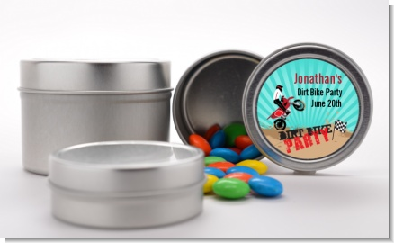 Dirt Bike - Custom Birthday Party Favor Tins