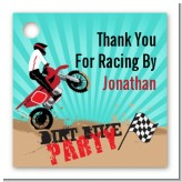 Dirt Bike - Personalized Birthday Party Card Stock Favor Tags